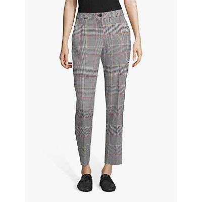 Betty Barclay Check Trousers, Black/Cream