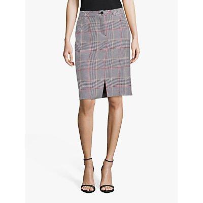 Betty Barclay Check Skirt, Black/Cream