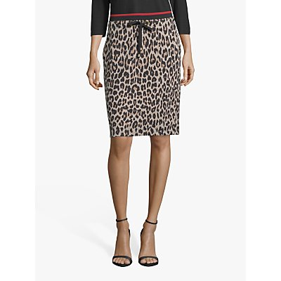 Betty Barclay Animal Print Skirt, Black/Camel