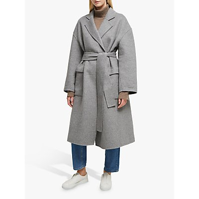 French Connection Agatima Belted Coat, Grey