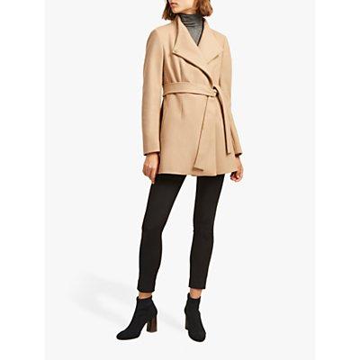 French Connection Carmelita Wool Platform Felt Wrap Coat