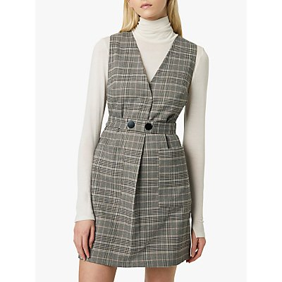 French Connection Amati Check Dress, Grey