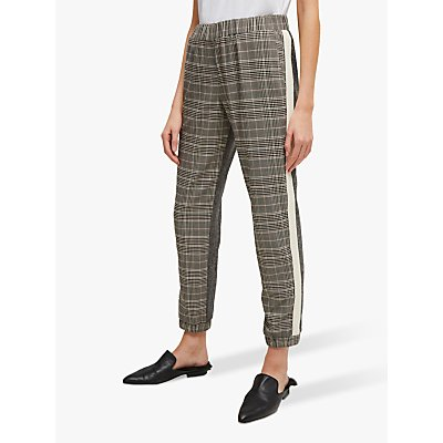 French Connection Amati Check Joggers, Grey Multi
