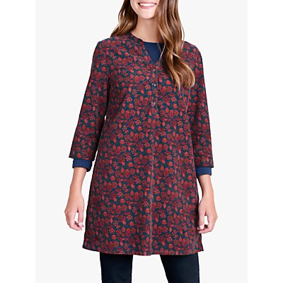 Seasalt South Terrace Tunic Top, Burnished Berries Copper