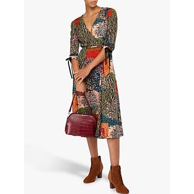 Monsoon Payton Printed Midi Dress, Multi