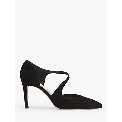 L.K.Bennett Victoria Asymmetric Cut Court Shoes, Black