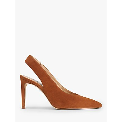 L.K.Bennett Ilana Suede Slingback Court Shoes, Tan