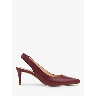 L.K.Bennett Irena Leather Stiletto Slingback Court Shoes