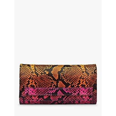 L.K.Bennett Ella Leather Clutch Bag, Multi
