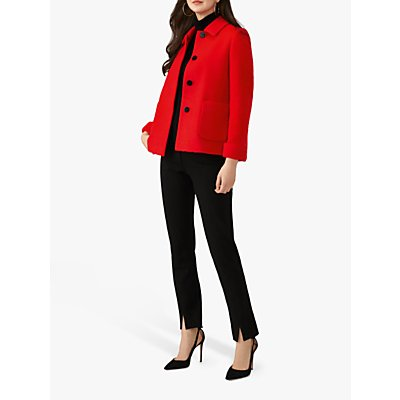 Pure Collection Wool Blend Short Swing Coat