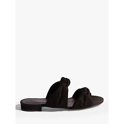 Karen Millen Knotted Front Slider Sandals, Black