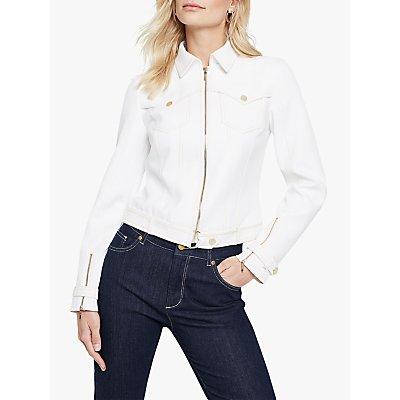 Damsel in a Dress Florens Biker Jacket, White