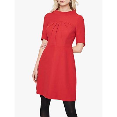 Damsel in a Dress Lynix Pleat Detail Flared Dress, Red