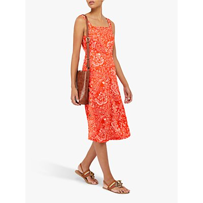Monsoon Misty Midi Dress, Orange