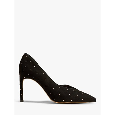 Ted Baker Daphned Stiletto Heel Suede Court Shoes, Black