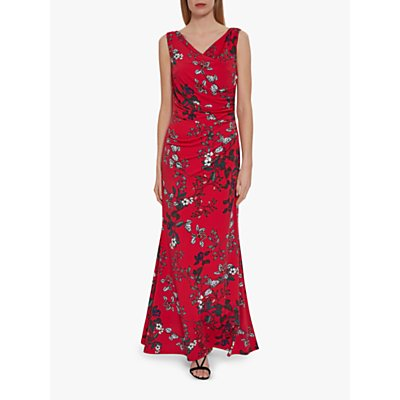 Gina Bacconi Jovita Floral Dress, Red