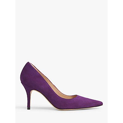 L.K.Bennett Harmony Pointed Toe Suede Court Shoes, Ultra Violet