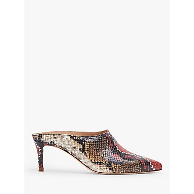 L.K.Bennett Hettie Leather Open Court Shoes, Multi/Red Natural