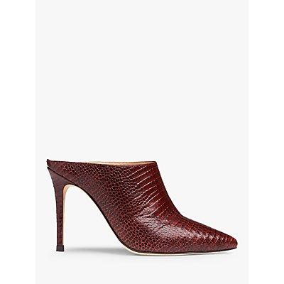 L.K.Bennett Hannah Leather Court Shoes, Burgundy