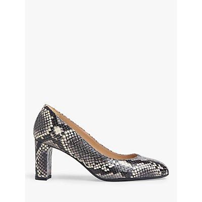L.K.Bennett Winola Snake Leather Court Shoes, Natural