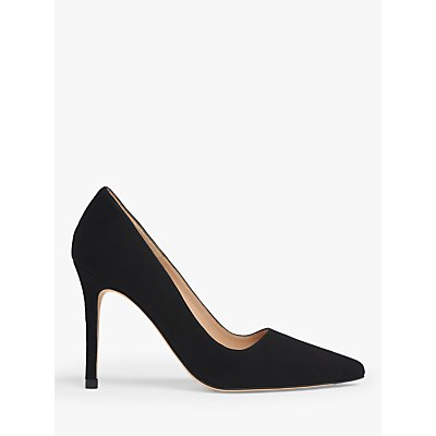L.K.Bennett Katie Stiletto Heel Suede Court Shoes, Black