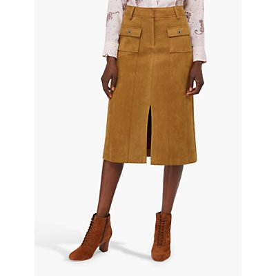 Monsoon Sally Midi Skirt, Tan