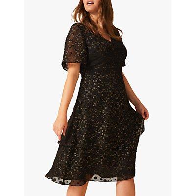 Studio 8 Sammy Metallic Spot Dress, Black