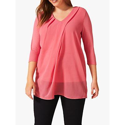 Studio 8 Mabel Jersey V-Neck Top, Pink
