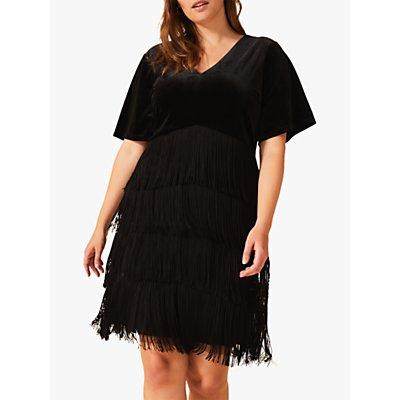 Studio 8 Felicity Fringe dress, Black