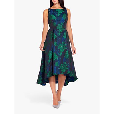 Adrianna Papell Charmed Floral Dress, Green/Multi