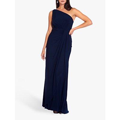 Adrianna Papell Asymmetric Jersey Dress, Midnight