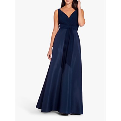 Adrianna Papell Taffeta Jersey Dress, Midnight