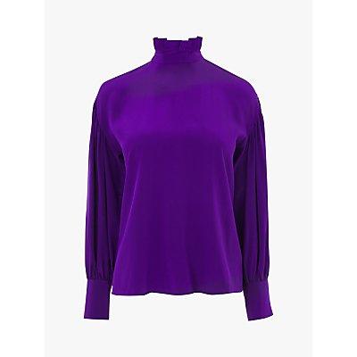 L.K.Bennett Chapelle Silk Blouse, Ultra Violet