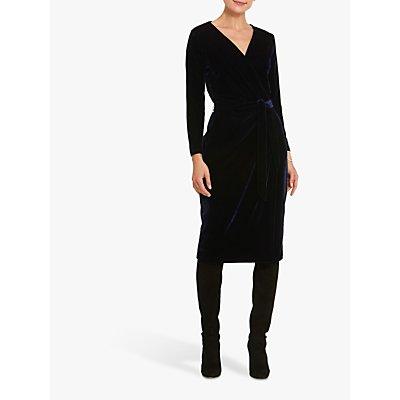 Helen McAlinden Jordan Velvet Dress, Midnight Navy