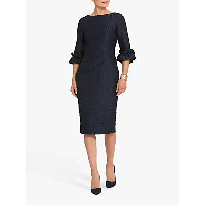 Helen McAlinden Alex Animal Print Jacquard Dress, Navy