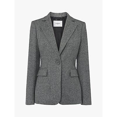 L.K.Bennett Frances Wool Jacket, Grey