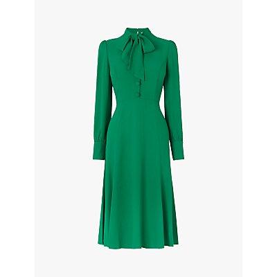 L.K.Bennett Mortimer Silk Tie Neck Dress