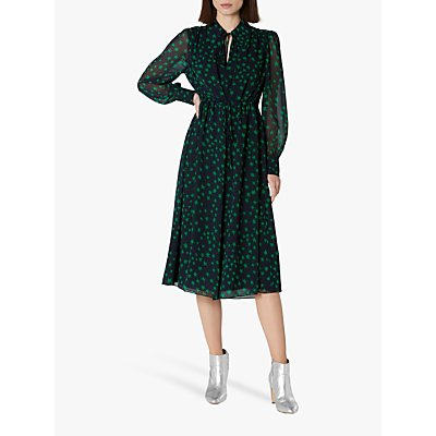 L.K.Bennett Amelie Star Print Midi Dress, Navy