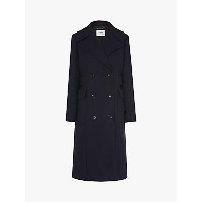 L.K.Bennett Aurelia Trench Coat, Midnight Blue