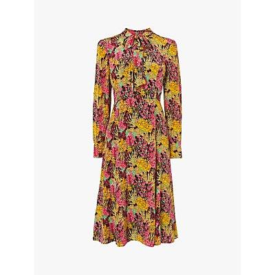 L.K.Bennett Mortimer Floral Silk Dress, Multi