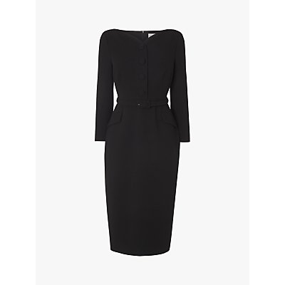 L.K.Bennett Peggy Tailored Midi Dress, Black