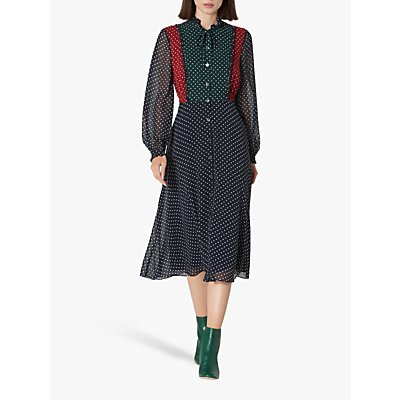 L.K.Bennett Filia Polka Dot Shirt Dress, Multi