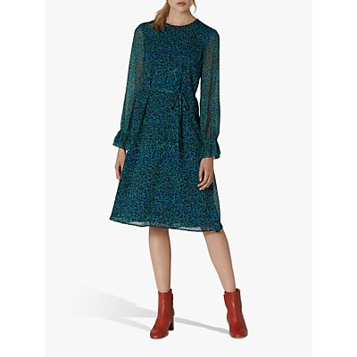 L.K.Bennett Jemma Silk Leopard Print Dress, Animal