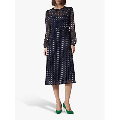L.K.Bennett Avery Dress, Pri-Navy Polka