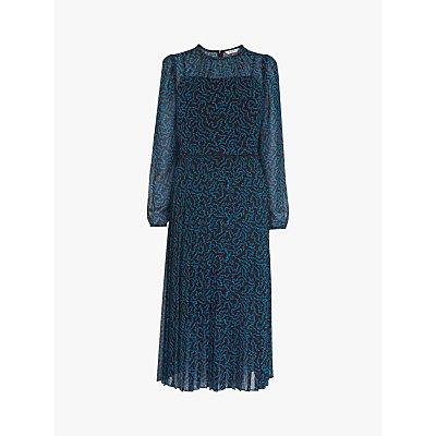 L.K.Bennett Avery Dress, Burgundy/Teal