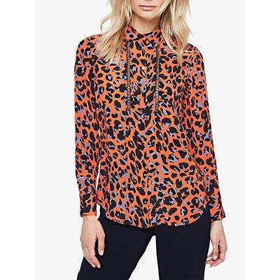 Damsel in a Dress Hena Leopard Print Chain Blouse, Orange