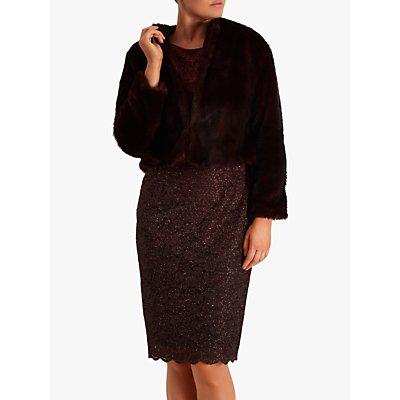 Fenn Wright Manson Francoise Faux Fur Jacket, Burgundy