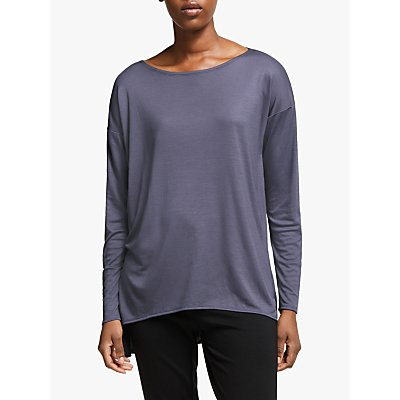 EILEEN FISHER Ballet Neck Tunic Top, Blue Shale