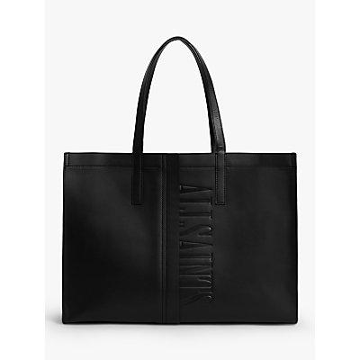AllSaints Nina East West Leather Tote Bag, Black