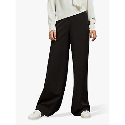 Ted Baker Adaart Wide Leg Tailored Trousers, Black